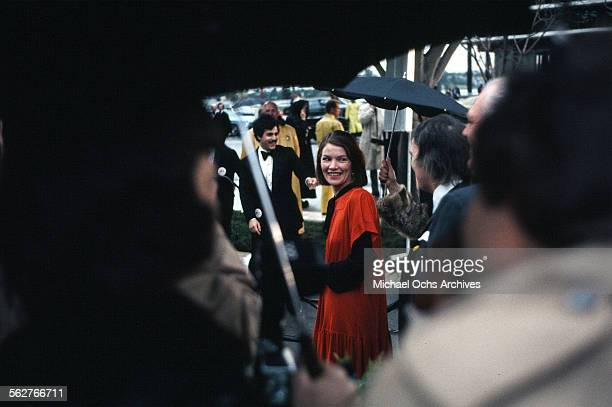 Actress Glenda Jackson arrives to the 47th Academy Awards at Dorothy Chandler Pavilion in Los AngelesCalifornia
