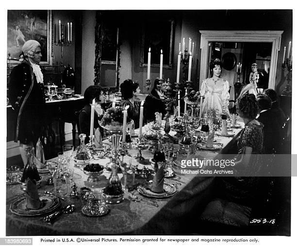 Actress Glenda Jackson on set of the Universal Studio movie The Nelson Affair in 1973