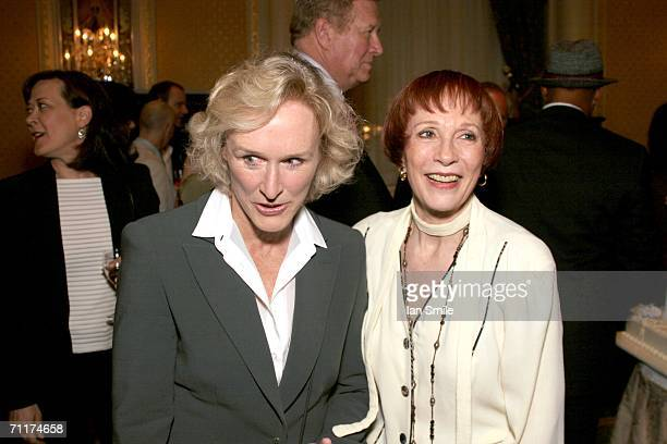 Actress Glenn Close and actress Patricia Elliot speak at The Tony Awards Honor Presenters And Nominees at the Waldorf Astoria on June 10 2006 in New...