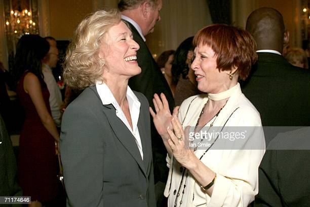 Actress Glenn Close and actress Patricia Elliot speak at The Tonys Awards Honor Presenters And Nominees at Waldorf Astoria in New York on June 10...