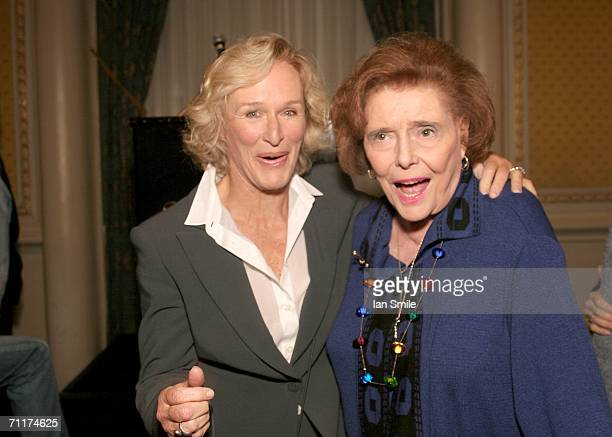Actress Glenn Close and actress Patricia Neal pose at The Tony Awards Honor Presenters And Nominees at the Waldorf Astoria on June 10 2006 in New York