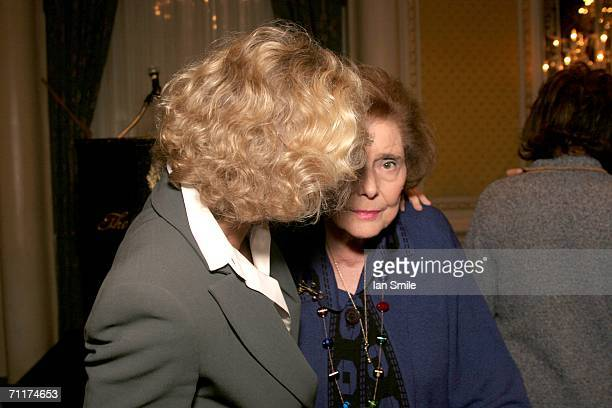 Actress Glenn Close and actress Patricia Neal speak at The Tony Awards Honor Presenters And Nominees at the Waldorf Astoria on June 10 2006 in New...