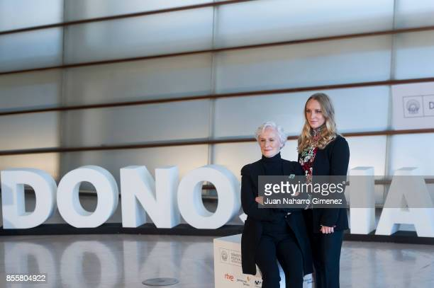 Actress Glenn Close and Annie Starke attend 'The Wife' photocall during 65th San Sebastian Film Festival on September 30 2017 in San Sebastian Spain