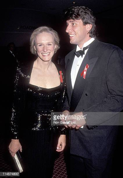 Actress Glenn Close and athlete Cam Neely attend the 46th Annual Tony Awards on May 31 1992 at the Gershwin Theatre in New York City