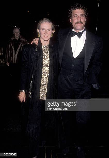 Actress Glenn Close and boyfriend John Starke attend the 3 Penny Opera Opening Night Performance on November 5 1989 at the LuntFontanne Theatre in...