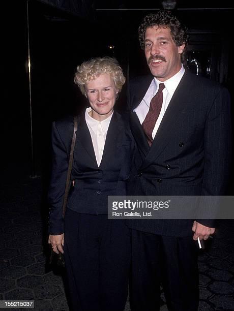 Actress Glenn Close and boyfriend John Starke attend the Black Rain New York City Premiere on September 18 1989 at Loews Astor Plaza in New York City