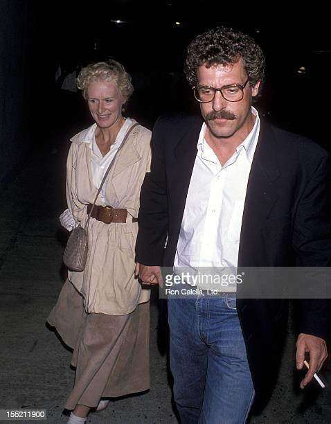 Actress Glenn Close and boyfriend John Starke attend the In Country New York City Premiere on September 12 1989 at the Museum of Modern Art in New...