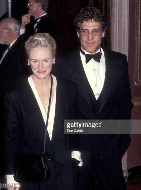 Actress Glenn Close and boyfriend John Starke attend the Museum of the Moving Image Salute to Robert De Niro on March 9 1991 at the WaldorfAstoria...