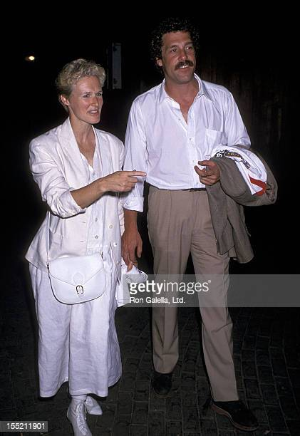 Actress Glenn Close and boyfriend John Starke attend the Twelfth Night or What You Will OffBroadway Play Performance on July 9 1989 at the Delacorte...