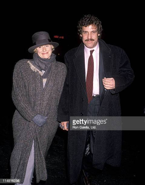 Actress Glenn Close and boyfriend John Starke attend the We're No Angels New York City Premiere on December 13 1989 at Loews 19th Street East in New...