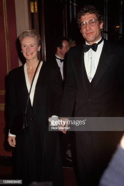 Actress Glenn Close and companion John H Starke attend the Robert de Niro tribute gala at the American Museum of the Moving Image