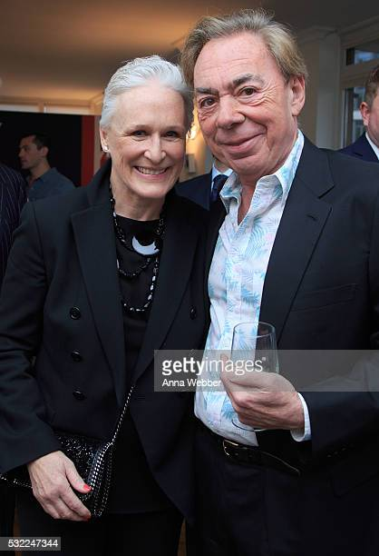 Actress Glenn Close and Composer Andrew Lloyd Webber attend The British Consulate Honors Legendary Composer Andrew Lloyd Webber at British...