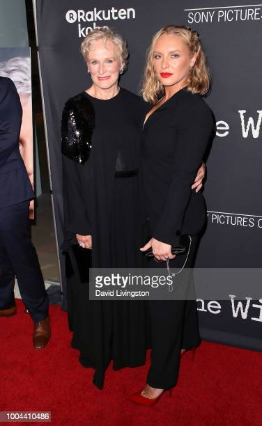 Actress Glenn Close and daughter actress Annie Starke attend Sony Pictures Classics' Los Angeles premiere of The Wife at the Pacific Design Center on...