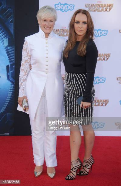 Actress Glenn Close and daughter Annie Starke arrive at the Los Angeles premiere of Marvel's Guardians Of The Galaxy at the El Capitan Theatre on...