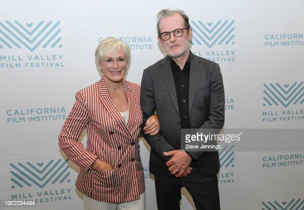 Actress Glenn Close and Director Bjorn Runge attend the Mill Valley Film Festival Special Screening of 'The Wife' at the San Rafael Film Center on...