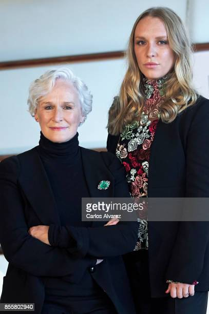 Actress Glenn Close and her daughter actress Annie Starke attend 'The Wife' photocall during the 65th San Sebastian International Film Festival on...