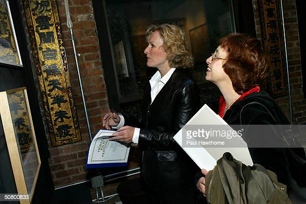 Actress Glenn Close and screenwriter Susan Horowitz attend the Kodak Producers' Reception during the 2004 Tribeca Film Festival at Tribeca Performing...