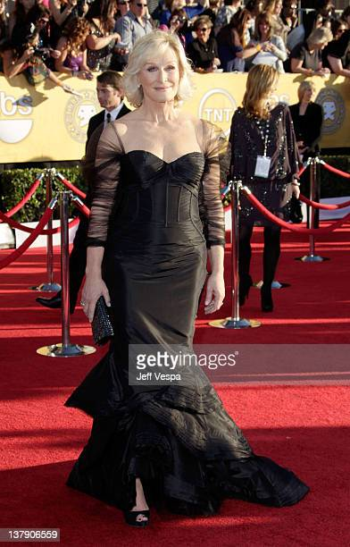Actress Glenn Close arrives at the 18th Annual Screen Actors Guild Awards held at The Shrine Auditorium on January 29 2012 in Los Angeles California