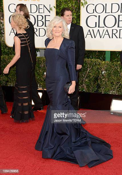 Actress Glenn Close arrives at the 70th Annual Golden Globe Awards held at The Beverly Hilton Hotel on January 13 2013 in Beverly Hills California