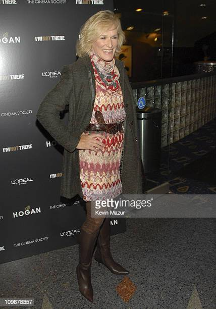 Actress Glenn Close arrives at the New York Premiere of I'm Not There at the Chelsea West Theater on November 13 2007 in New York City