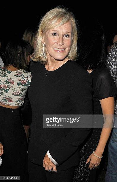 Actress Glenn Close at the smartwater CAA party on the vitaminwater Rooftop on September 11 2011 in Toronto Canada