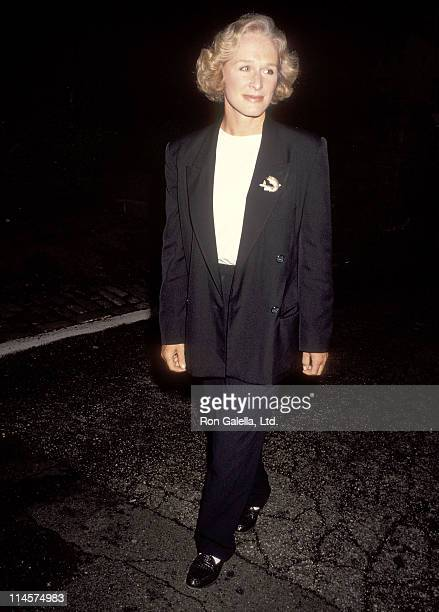 Actress Glenn Close attend the garden reception to honor Robert F Kennedy's life and the 25th Anniversary of his presidential campaign to benefit the...