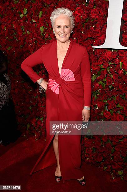 Actress Glenn Close attends 70th Annual Tony Awards Arrivals at Beacon Theatre on June 12 2016 in New York City