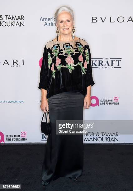 Actress Glenn Close attends as the Elton John AIDS Foundation commemorates its 25th year and honors founder Sir Elton John during the New York Fall...