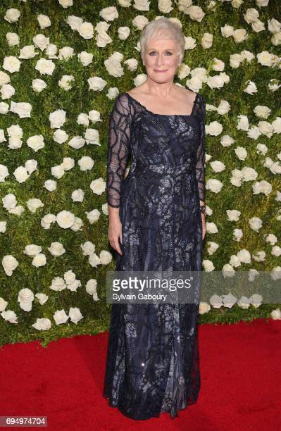 Actress Glenn Close attends the 2017 Tony Awards at Radio City Music Hall on June 11 2017 in New York City