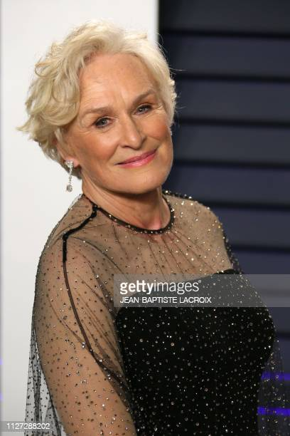 US actress Glenn Close attends the 2019 Vanity Fair Oscar Party following the 91st Academy Awards at The Wallis Annenberg Center for the Performing...