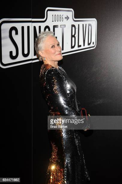 Actress Glenn Close attends the after party for Andrew Lloyd Webber's SUNSET BOULEVARD Opens On Broadway Starring Glenn Close on February 9 2017 in...