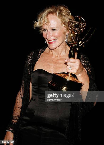Actress Glenn Close attends the Governors Ball for the 60th Primetime Emmy Awards held at the Los Angeles Convention Center on September 21, 2008 in...