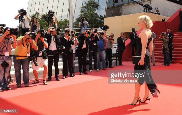 Actress Glenn Close attends the 'Tamara Drewe' Premiere held at the Palais des Festivals during the 63rd Annual International Cannes Film Festival on...