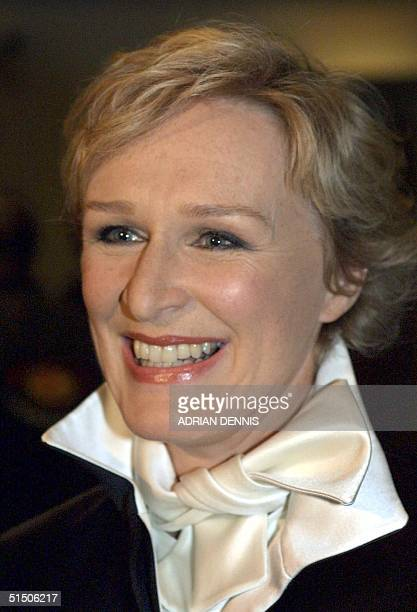 US actress Glenn Close poses at the premiere of the new Disney movie 102 Dalmatians 06 December 2000 at the Leicester Square Odeon in London Close...