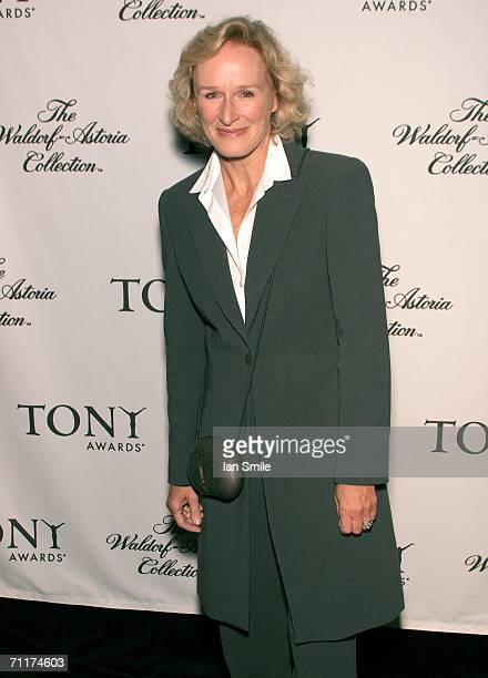Actress Glenn Close poses at The Tonys Awards Honor Presenters And Nominees at Waldorf Astoria in New York on June 10 2006 in New York