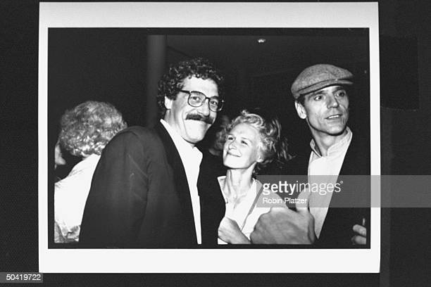 Actress Glenn Close w her liveinlover John Starke actor Jeremy Irons at the screening of In Country