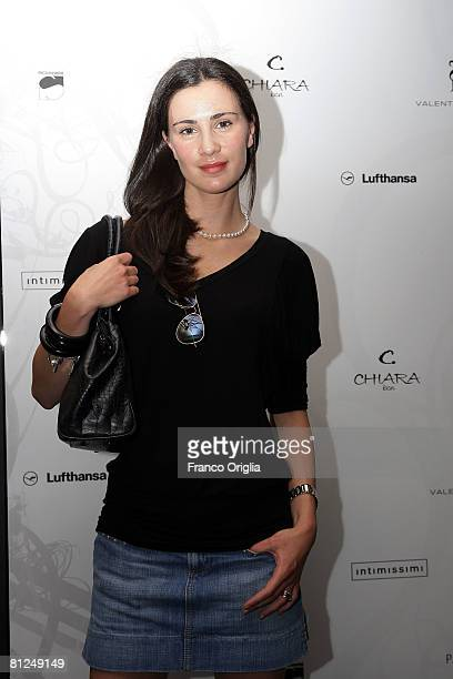 Actress Gloria Bellicchi attends the presentations of Chiara De Laurentis Fashion Creations at Fleur May 272008 in Rome Italy