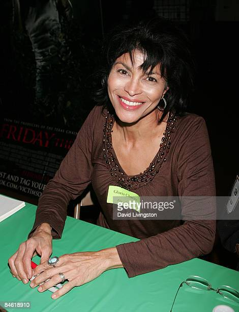 Actress Gloria Charles attends Anchor Bay Entertainment's Jason Voorhees reunion at Emerald Knights comics and games store on February 3 2009 in...