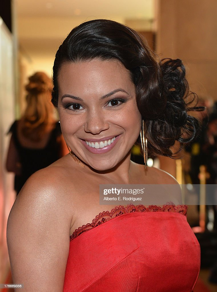 Actress Gloria Garayua arrives to the 28th Annual Imagen Awards at The Beverly Hilton Hotel on August 16, 2013 in Beverly Hills, California.