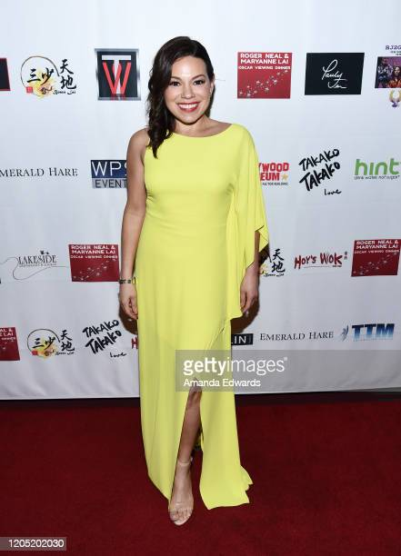 Actress Gloria Garayua attends the 5th Annual Roger Neal and Maryanne Lai Oscar Viewing DinnerIcon Awards and After Party at The Hollywood Museum on...