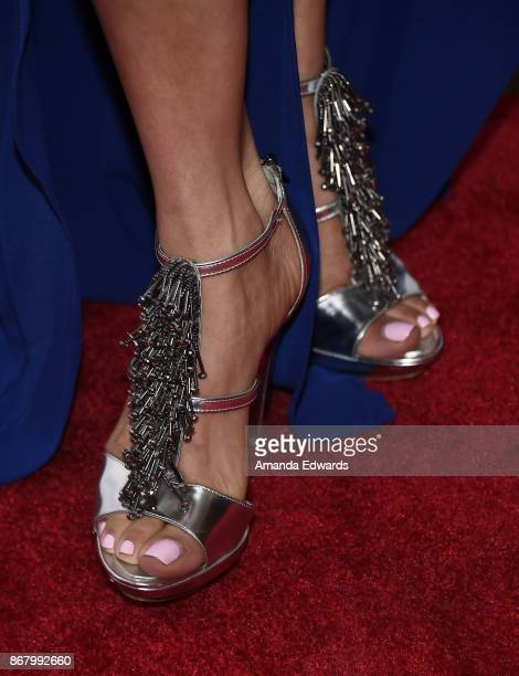 Actress Gloria Garayua shoe detail arrives at the 3rd Annual Carney Awards at The Broad Stage on October 29 2017 in Santa Monica California