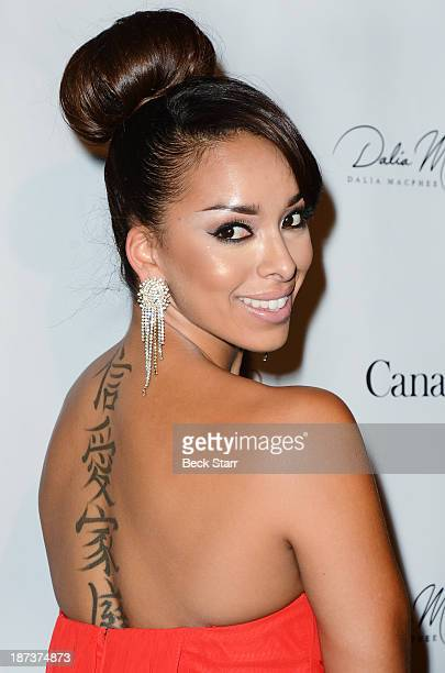 Actress Gloria Govan arrives at Canadian Consul General honors fashion designer Dalia MacPhee on November 7 2013 in Los Angeles California