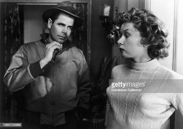 Actress Gloria Grahame and Glenn Ford in a scene from the movie Human Desire
