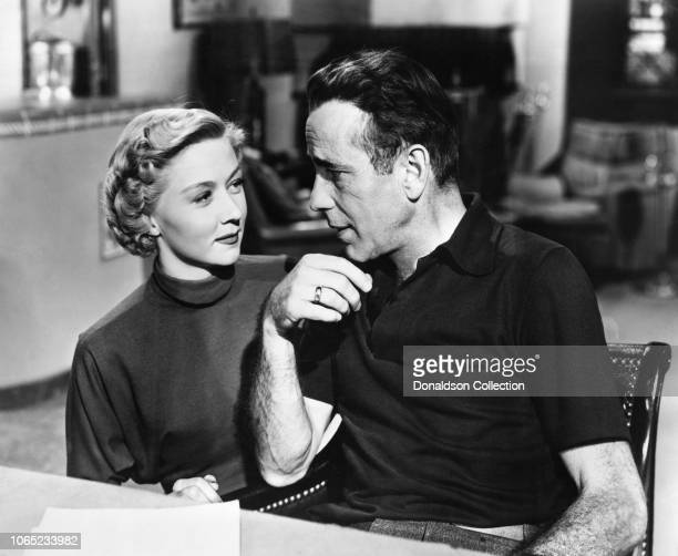 Actress Gloria Grahame and Humphrey Bogart in a scene from the movie In a Lonely Place