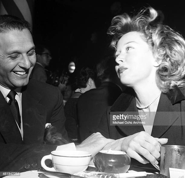 Actress Gloria Grahame with Cy Howard at Mocambo in Los Angeles California