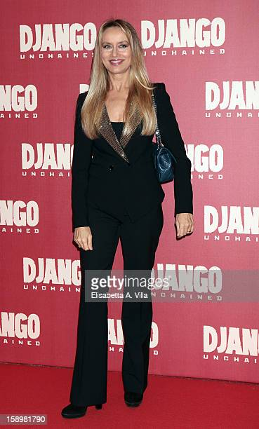 Actress Gloria Guida attends 'Django Unchained' premiere at Cinema Adriano on January 4 2013 in Rome Italy