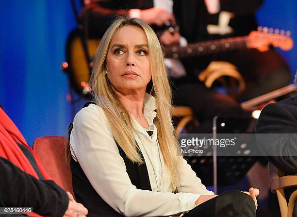 Actress Gloria Guida during TV show Maurizio Costanzo Show, Studios Rome on december 07, 2016