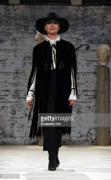 Actress Gloria Guida walks the runway at the Gattinoni show during Altaroma on January 27 2018 in Rome Italy