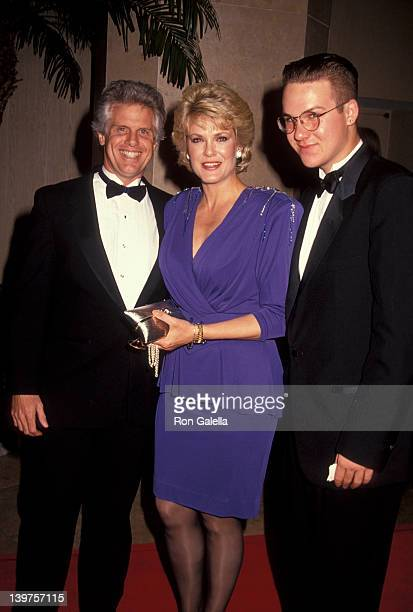 Actress Gloria Loring and son Brennan Thicke attending Jevenile Diabetes Benefit Gala on October 4 1991 at the Beverly Hilton Hotel in Beverly Hills...