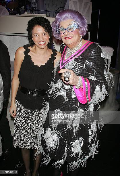 Actress Gloria Reuben and Dame Edna attend the opening night of 'All About Me' on Broadway at Henry Miller's Theatre on March 18 2010 in New York City
